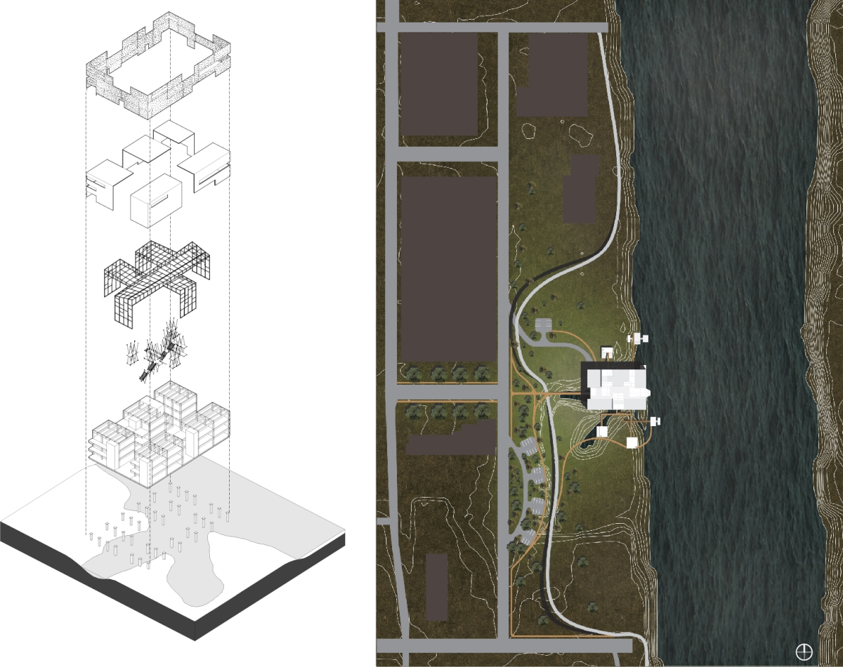 Axon and Site Plan
